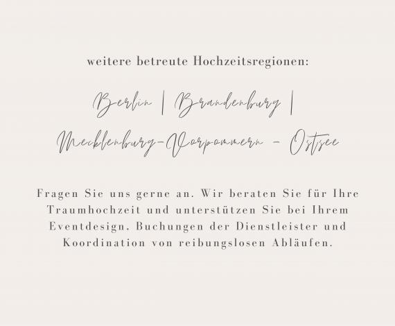 Hochzeitsregionen Berlin   Brandenburg   Mecklenburg-Vorpommern - Ostsee